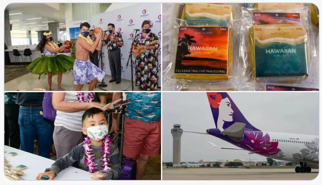 Aloha!奥斯汀首个直飞夏威夷的航班迎来首航!每周两个航班时间选择!