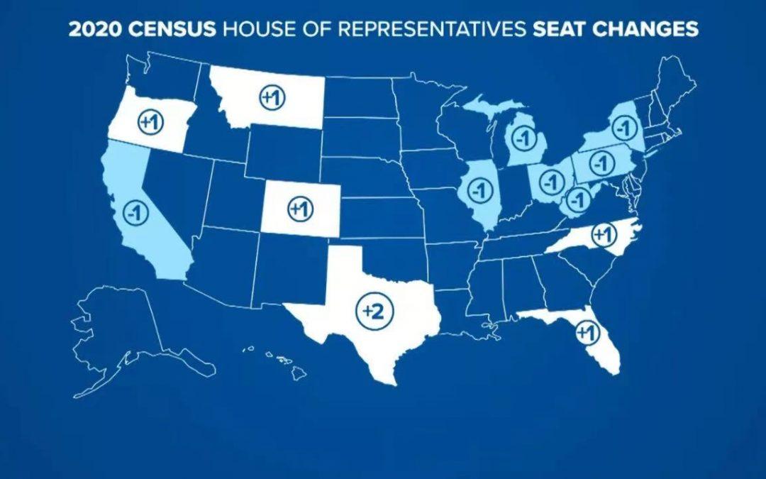 重磅!最新人口普查结果出炉,德州获两个国会席位!加州纽约等失去席位……
